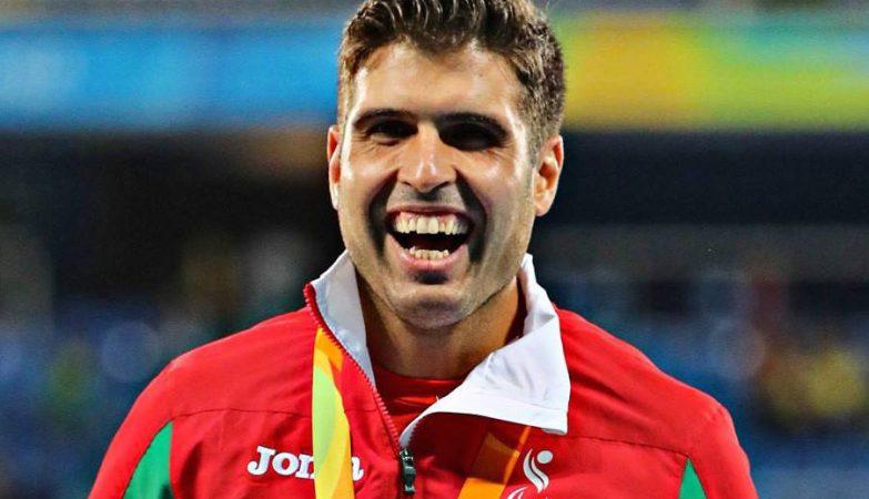 Luís Gonçalves, medalha de bronze na prova dos 400 metros T12 nos Paralímpicos do Rio 2016