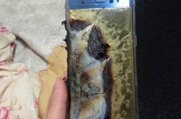 Samsung Galaxy Note 7 estragado