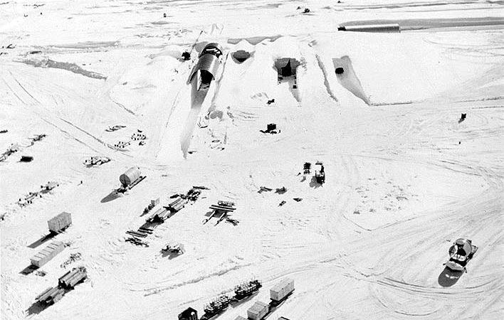 Reactor nuclear transportável instalado em Camp Century,  na Gronelândia