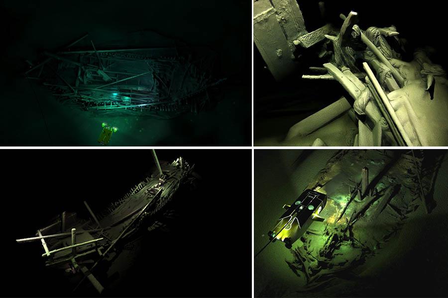 Cemiério de navios no fundo do Mar Negro