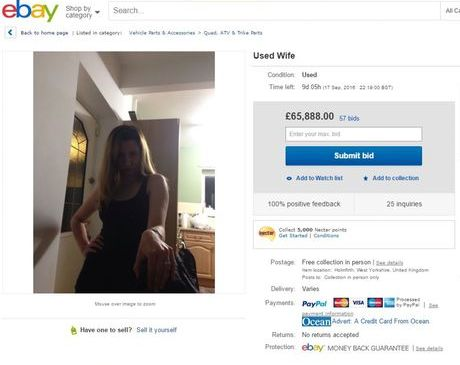 O anúncio de Simon O'Kane no Ebay