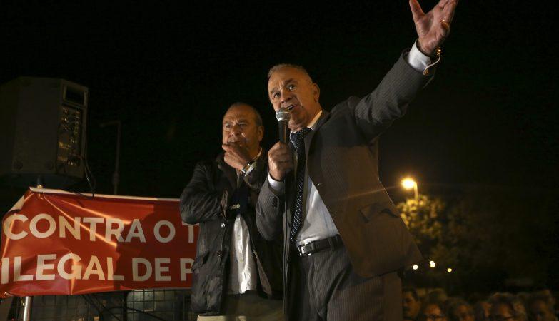 Carlos Ramos, da Federação Portuguesa do Táxi, e Florêncio de Almeida, da ANTRAL