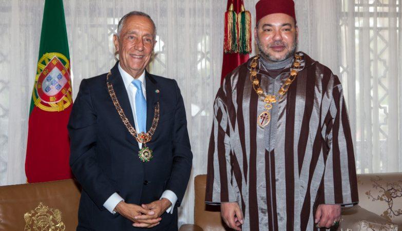 Marcelo Rebelo de Sousa na visita a Marrocos, onde foi recebido pelo Rei Mohamed VI