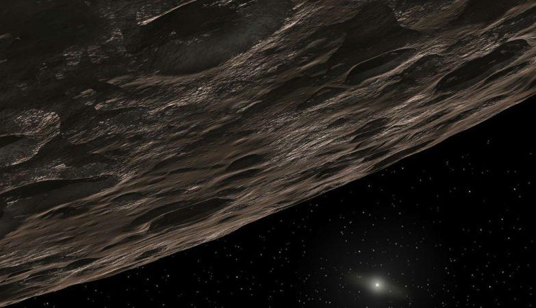 Conceito artístico do 2014 UZ224, o novo planeta anão do nosso sistema solar