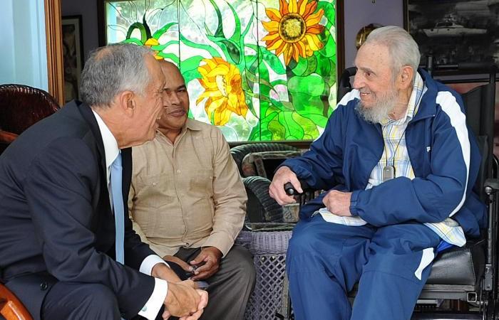 Marcelo Rebelo de Sousa com Fidel Castro em Havana, Cuba