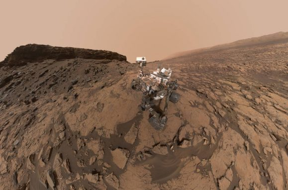 Auto-retrato do Rover Curiosity da NASA