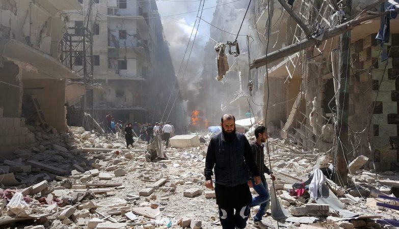 Bombardeamento em Aleppo, Síria