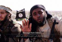 """""""Mensagem de Dabiq"""", vídeo de propaganda do Estado Islâmico com a cidade de Dabiq ao fundo."""