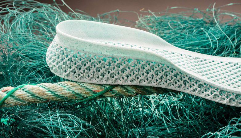 A sola da sapatilha criada pela Adidas e pela Parley for the Oceans
