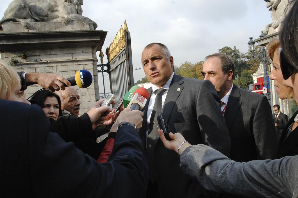 O primeiro-ministro da Bulgária, Boiko Borissov