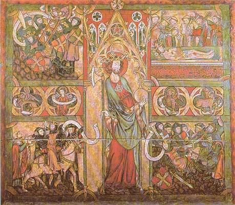 Retábulo de madeira do Santo Olavo