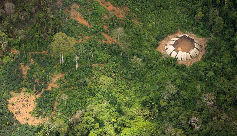 Tribo Moxihatetema que vive isolada na floresta Amazónia.