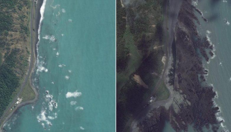 Terramoto na Nova Zelândia causou mudanças radicais no relevo do litoral
