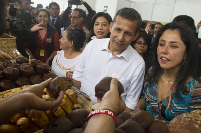 O ex-presidente do Perú, Ollanta Humala, e a ex-primeira-dama Nadine Heredia