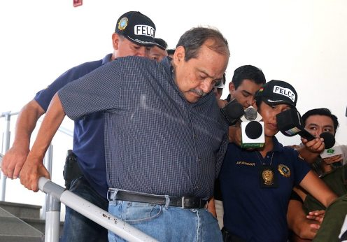 O director geral da LAMIA, Gustavo Vargas Gamboa (C)