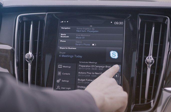 Volvo Cars inclui Skype for Business da Microsoft na nova Série 90