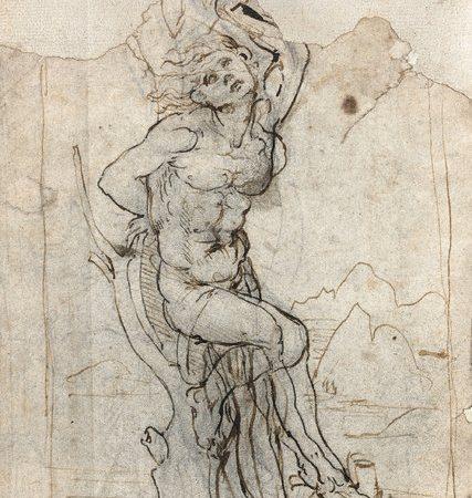 O desenho do Martírio de São Sebastião, atribuído a Leonardo Da Vinci