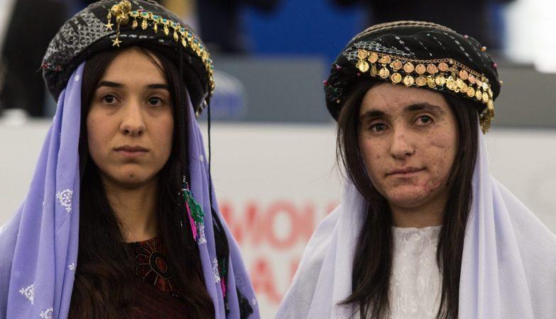 As iraquianas yazidis Nadia Murad e Lamiya Aji Bashar, antigas escravas sexuais do Daesh, venceram o Prémio Sakharov 2016