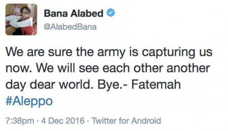 Perfil de garota síria que falava sobre Aleppo desaparece do Twitter