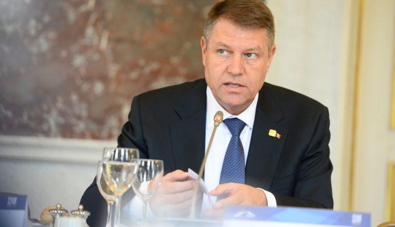 O Presidente da Roménia Klaus Iohannis