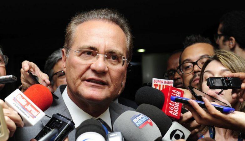 O presidente do Senado brasileiro, Renan Calheiros