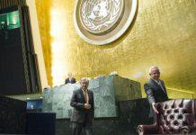 António Guterres na Assembleia Geral, no dia 13 de outubro de 2016