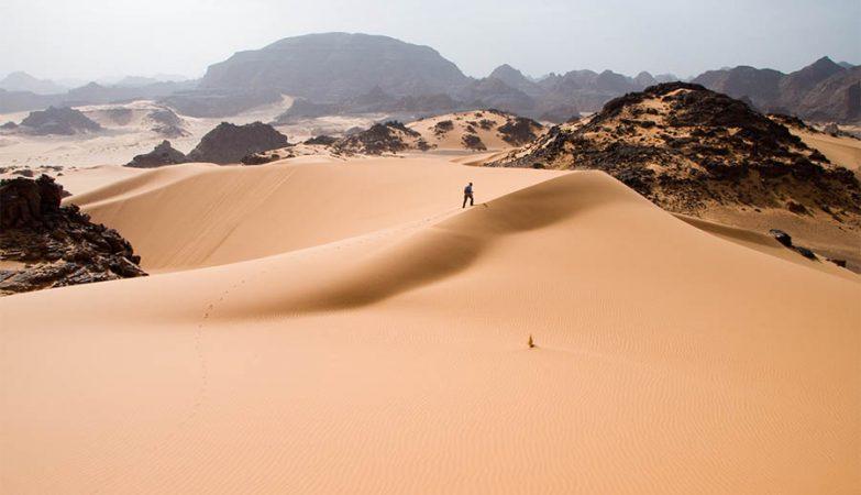 Deserto do Saara na Líbia.