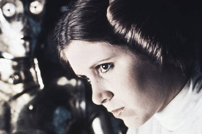 Carrie Fisher, Princesa Leia em Star Wars (1977), de George Lucas
