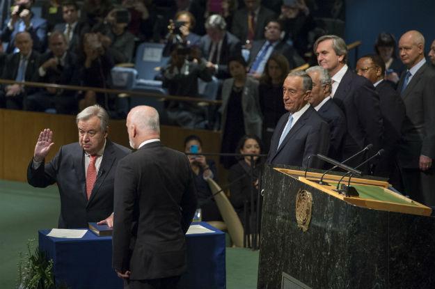 António Guterres presta juramento como novo Secretário Geral das Nações Unidas