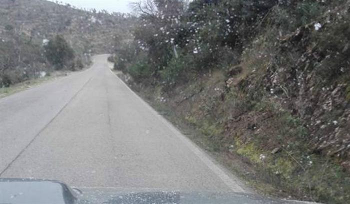 Neve na zona do Serra do Caldeirão