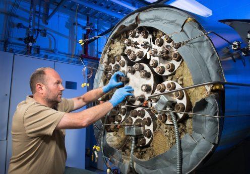 A câmara GEER da NASA em Cleveland, Ohio (EUA)