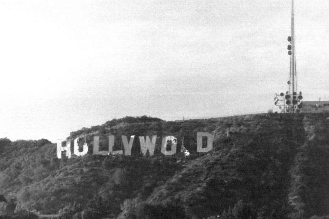 Letreiro de HOLLYWOOD nos anos 70