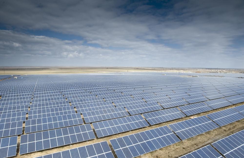 Parque solar de Mityaevo, na Crimeia