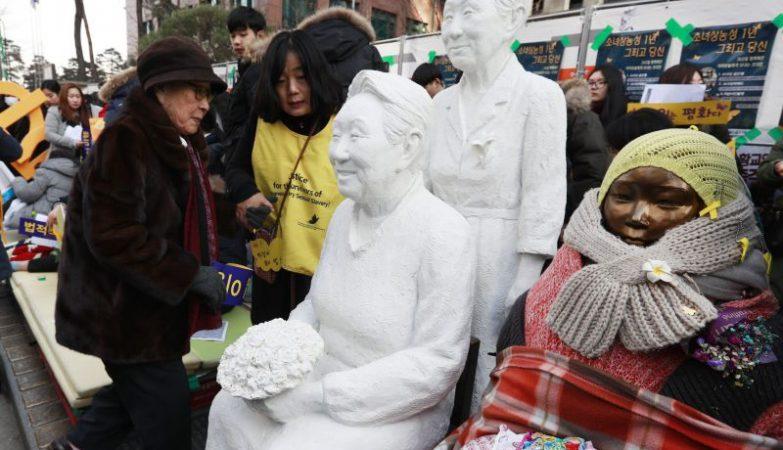 A estátua em memória das escravas sexuais do exército nipónico