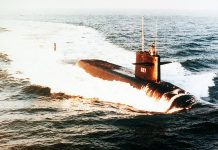 O USS James Madison, submarino nuclear norte-americano classe Poseidon