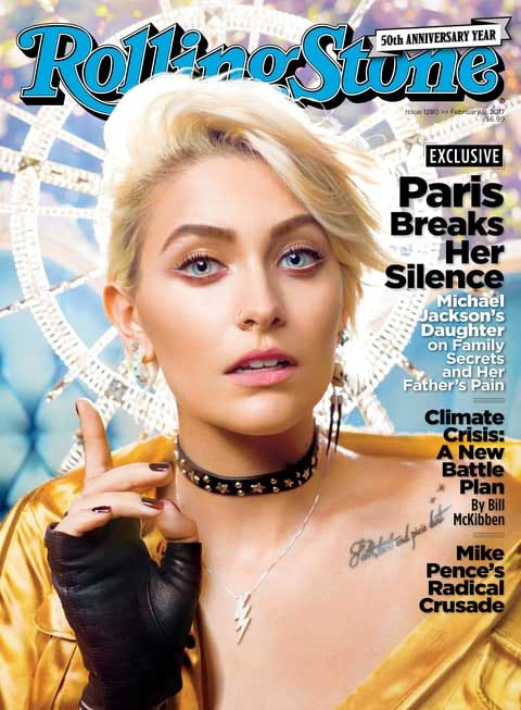 Paris Jackson na capa da Rolling Stone.