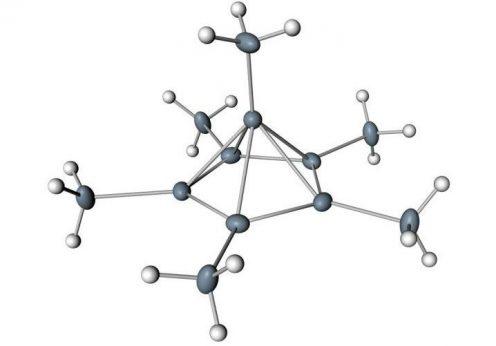 Molécula de hexametilbenzeno