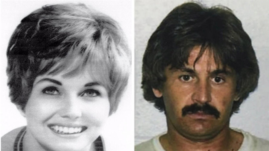 Karen Klaas, ex-mulher de Bill Medley, dos Righteous Brothers, e o seu assassino, Kenneth Troyer.