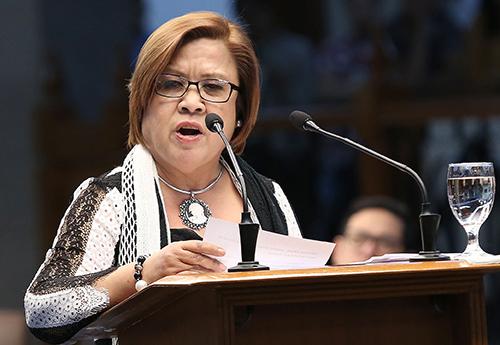 A senadora Leila de Lima