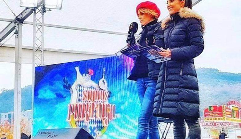 "Leonor Poeiras e Iva Domingues no ""Somos Portugal"" da TVI"
