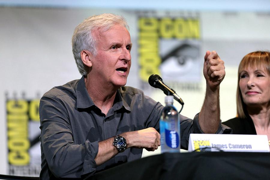 O realizador James Cameron.