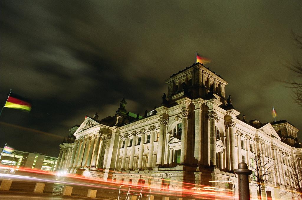 O Reichstag, sede do Parlamento alemão
