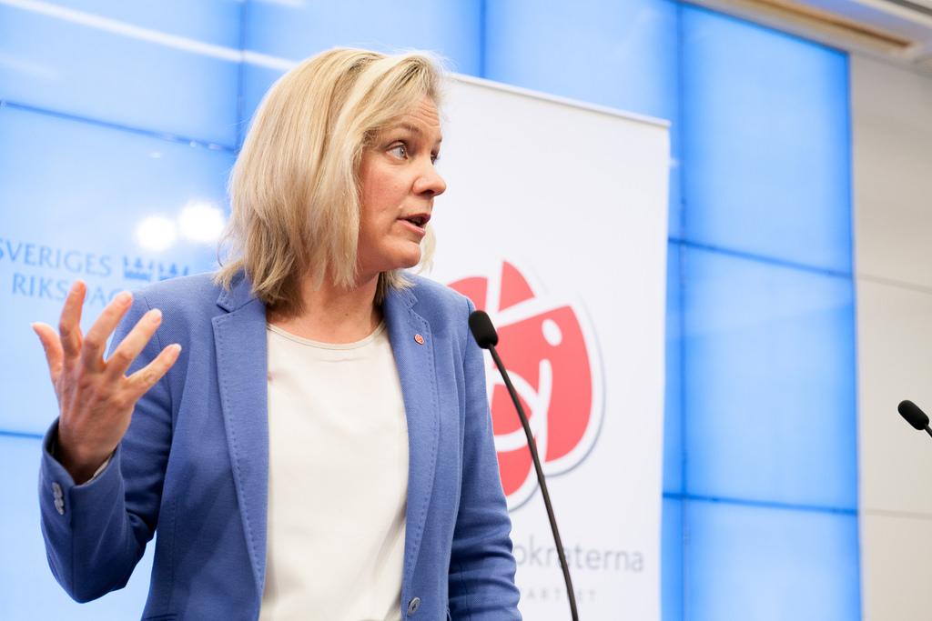 A ministra das Finanças da Suécia, Magdalena Andersson