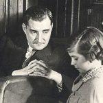 """Maria da Conceição Rita, ou """"Micas"""" como era conhecida, com Oliveira Salazar"""