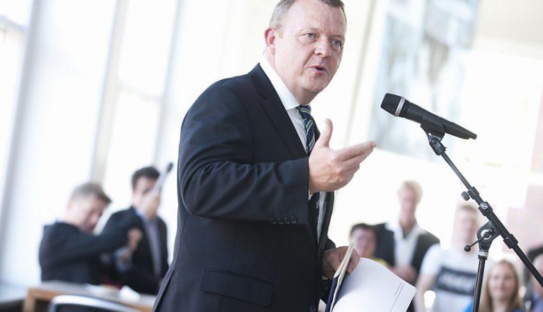 O primeiro-ministro da Dinamarca, Lars Løkke Rasmussen
