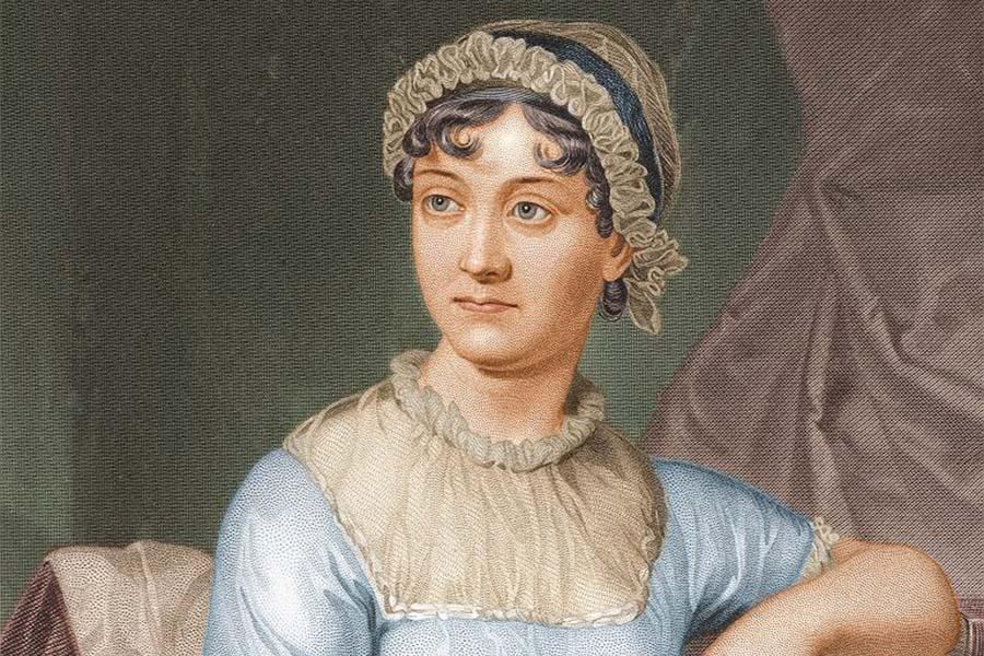 Retrato pintado da escritora inglesa Jane Austen.