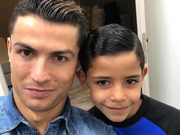 Cristiano Ronaldo e o filho, Cristiano Ronaldo Júnior.