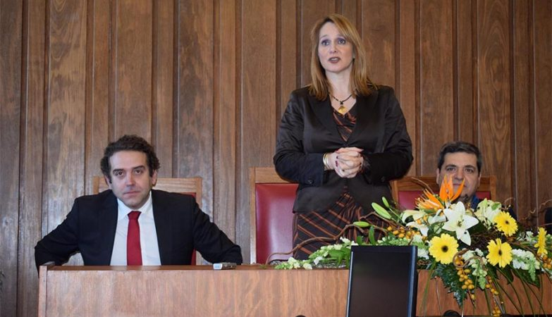 Secretária de Estado da Justiça, Helena Mesquita Ribeiro, na reabertura do Tribunal de Tabuaço.