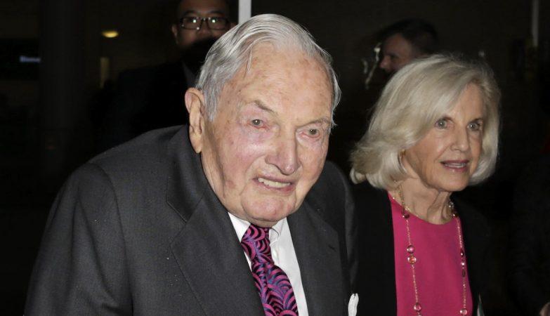 O banqueiro e filantropo norte-americano David Rockefeller