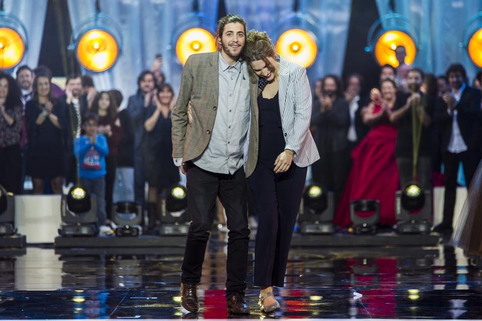 Salvador Sobral e a irmã, Luísa Sobral, autora da música que venceu o Festival da Canção 2017